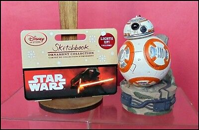 Ornament Collection Sketchbook Star Wars Bb-8 Lights Up! Disney Store Guerre Ste