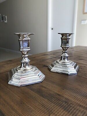Pair Of Vintage Silver-Plated Candlesticks