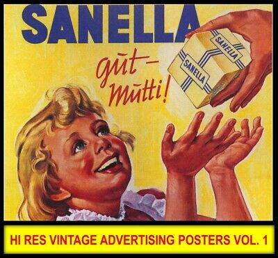 Hi Res VINTAGE ADVERTISING POSTERS French Wall Art Nouveau Art Deco Images DVD 1