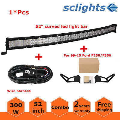 52inch Curved/Straight LED Light Bar Mount Bracket Fit For 99-15 Ford F250/F350