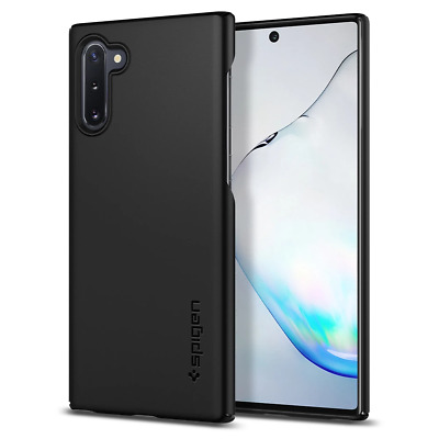 For Galaxy Note 10/10 Plus/10 Plus 5G Spigen® [Thin Fit] Black Protective Cover