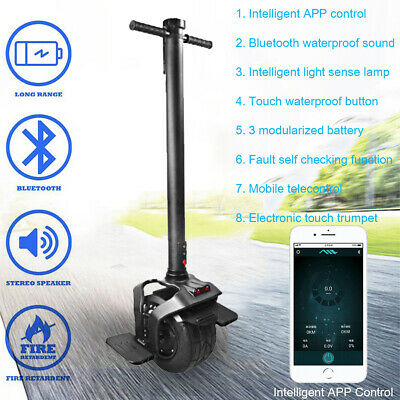 One Wheel Electric APP Control Portable Balance Scooter Handheld Bike Unicycle!