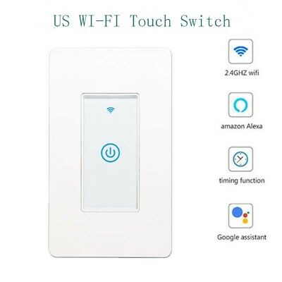 Smart Switch US Remote Control WIFI Wireless LED Light Touch Panel Alexa Home