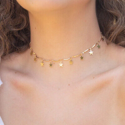 Fashion Gold Star Choker Necklace Chain For Women Girl Summer Jewelry Pendants