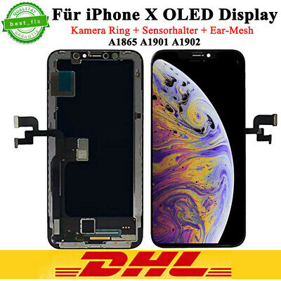Original OLED Display für iPhone X 10 HD Bildschirm 3D LCD Touch Screen Schwarz
