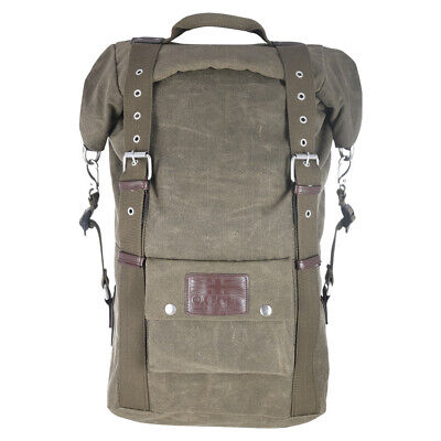 Oxford Heritage Waxed Cotton Motorcycle Motorbike Backpack 30 Litre Khaki
