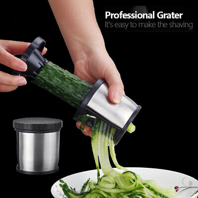 Stainless Steel Professional Carrot Zucchini Grater Spaghetti Spiral Slicer New
