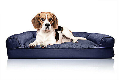 Furhaven Dog Bed | Orthopedic Quilted Sofa-Style Living Room Couch Pet Bed for