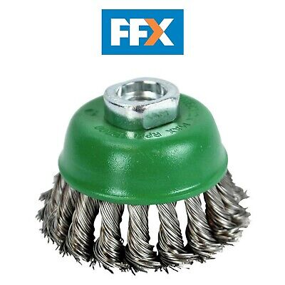 Faithfull FAIWBT65S Wire Cup Brush Twist Knot 65mm M14 x 2 0.50mm Stainless Stee