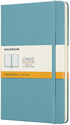 Moleskine Classic Notebook, Hard Cover, Large (5' x 8.25') Ruled Lined, Reef