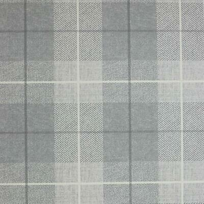 Arthouse Plaid Check Tartan Wallpaper Chequed Woven Linen Effect Taupe Grey