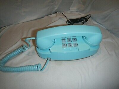 Western Electric Aqua Blue Model 2702 Princess Telephone Working