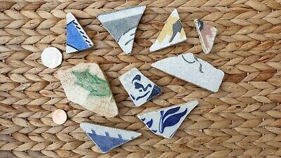 Sea Tumbled Beach Pottery Tiles for Arts & Crafts