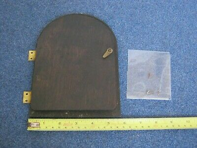 Vintage Mantel Clock Casing Back Door/Hinges+Screws.