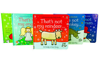 Thats Not My Touchy-Feely 5 Board Books Set Christmas Collection Elf,Snowman new