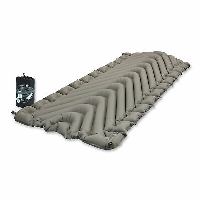 "Klymit Static V Luxe 30"" Wide Rugged Lightweight Inflatable Sleeping Pad, Gray"