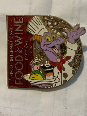 Disney Pin Figment Food And Wine Festival 2016 Epcot Chef Stained Glass
