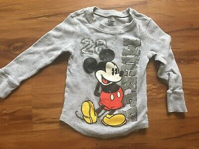 Boys 2T-3T Mickey Mouse Long Sleeve Thermal Shirt