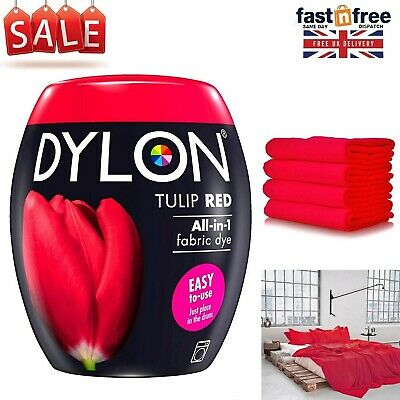 DYLON Washing Machine Fabric & Clothes Dye Pod Intense Red Colour Paint 350g