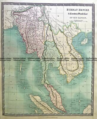 Antique Map 5-058  South East Asia by Teasdale  c.1847 South East Asia