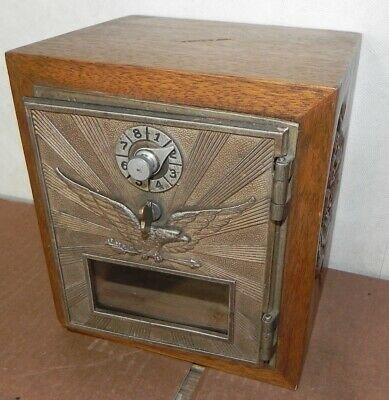Eagle Post Office Door Bank Mail Po Box Vintage Combination