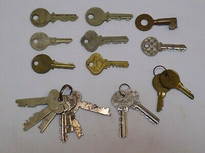 18 Antique Key LOT 6 Vintage Old Reese Padlock Co Skeleton Keys Independent Lock