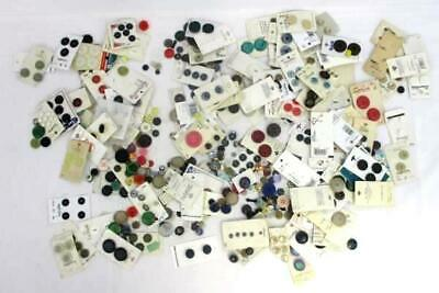 Large Lot of Multi-Colored Mixed Buttons Some on Orginal Cards