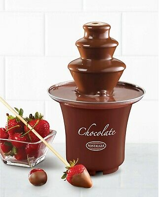Chocolate Fondue Fountain 3-Tier Waterfall Machine Electronic Party, Nostalgia