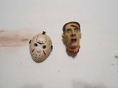 Jason Voorhees Friday The 13th 1/6 Scale HOCKEY MASK AND SEVERED HEAD HORROR
