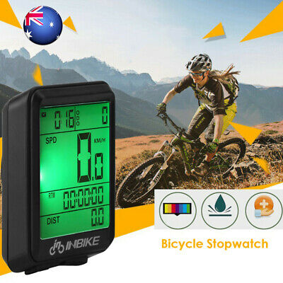 INBIKE Wired LCD Bike Computer Speed Odometer Waterproof Speedometer Cycle UK