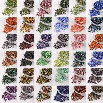 8/0 Opaque Colours Seep Glass Round Seed Beads 2.5~3x2~3mm Hole 0.8mm 1666pc/50g