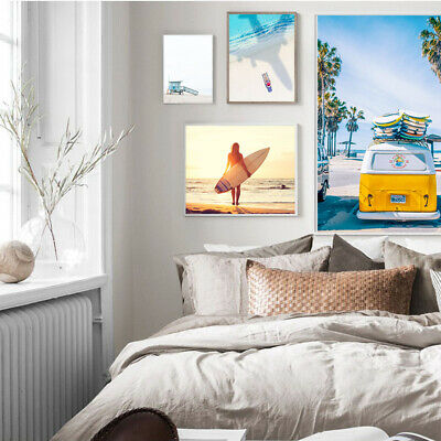 Nordic style beach wall art painting ocean posters and prints home decor