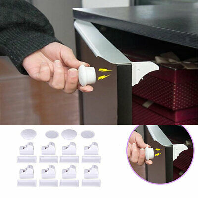 Magnetic Safety Invisible Cupboard Cabinet Door Lock Drawer Baby Child Security