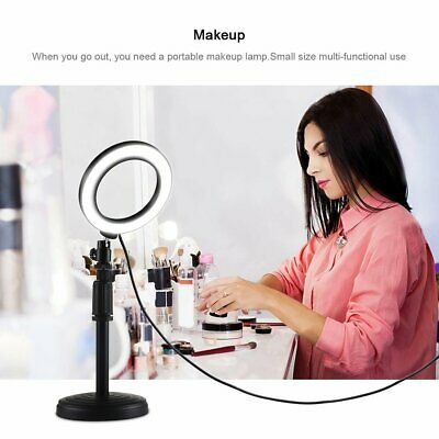 Desktop Adjustable Round Base For LED Ring Video Light Round Base Mount Holder B