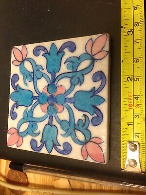 "VINTAGE KRAFT HANDPAINTED 3"" TILE No 1"