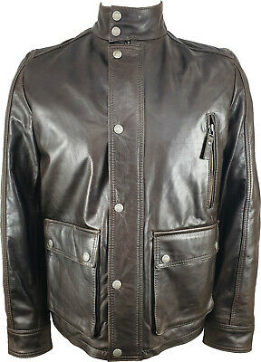 UNICORN Mens Jacket - Real Leather - Brown #JN