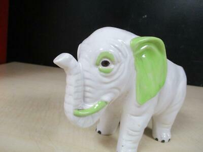 Vtg Ceramic Elephant Planter Made In Japan Hand Painted Trunk Up Lucky Porcelain