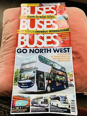 BUSES Magazines August 2019 Latest Issue June February 3 Issues Pre- Owned MINT