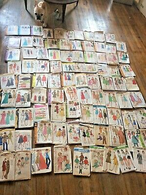 Lot 90 Vtg  Sewing Ladies dress Patterns Butterick Simplicity McCalls 50's 60's