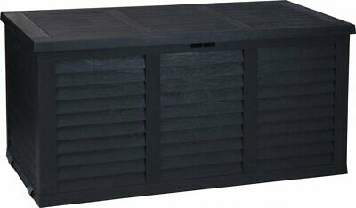 380L Large Outdoor Patio Garden Plastic Storage Box Container Chest on Wheels