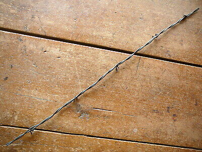 Gliddens 2-Pt Lightweight Lines &  Coil Wrap Hanging Barbs - Antique Barbed Wire