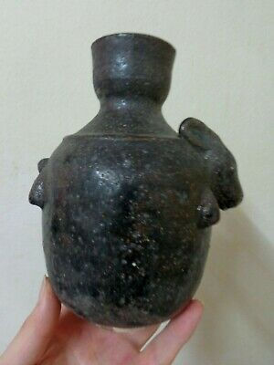 Antique  Khmer Angkor Rabbit Head Designed  Celadon Stoneware Water Vase