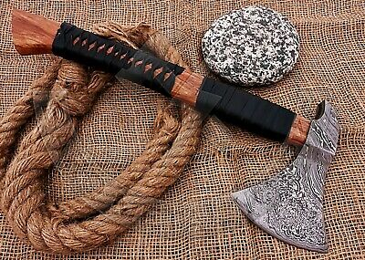 Viking Battle Ax-Handmade High Carbon Damascus Steel Axe