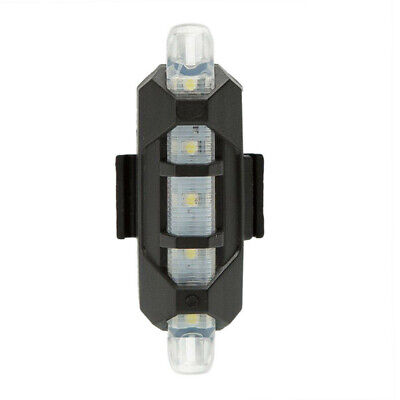 New Cycling 5 LED USB Rechargeable Bike Bicycle Tail Warning Light Rear Safety A