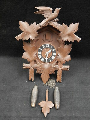Vintage Black Forest Regula Cuckoo Clock German Germany Running Hurbert Herb