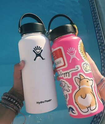 32/40 oz Hydrate Flask Water Bottle Stainless Steel Insulated