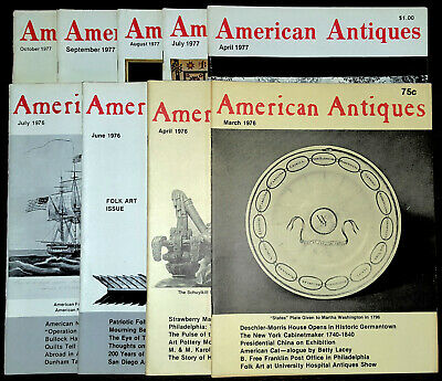 American Antiques magazine - 9 issues - 1976 - 1977