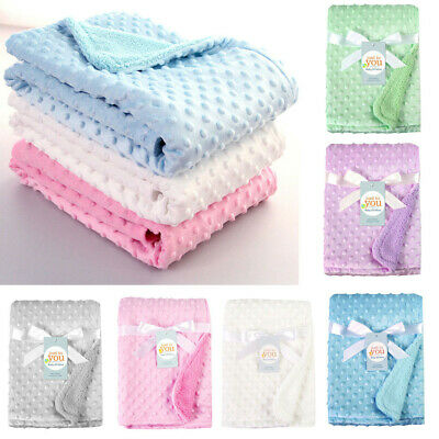 Newborn Baby Blanket Thermal Warm Soft Polar Fleece Blankets Swaddling Bedding