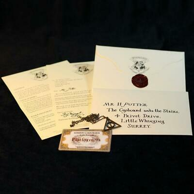 Hogwarts Tickets Cosplay Gift Harry Potter School Acceptance Letter London