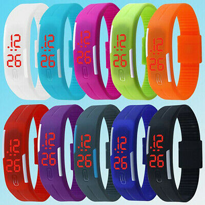 Touch Screen LED Digital Silicone Sport Wrist Watch Men Women Bracelet Watch HOT